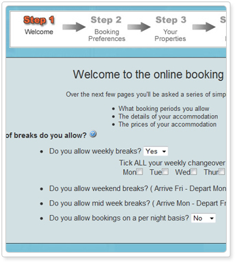 online booking system getting started